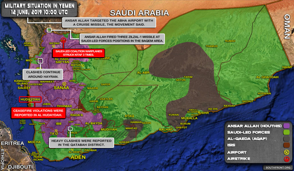 Military Situation In Yemen On June 12, 2019 (Map Update)
