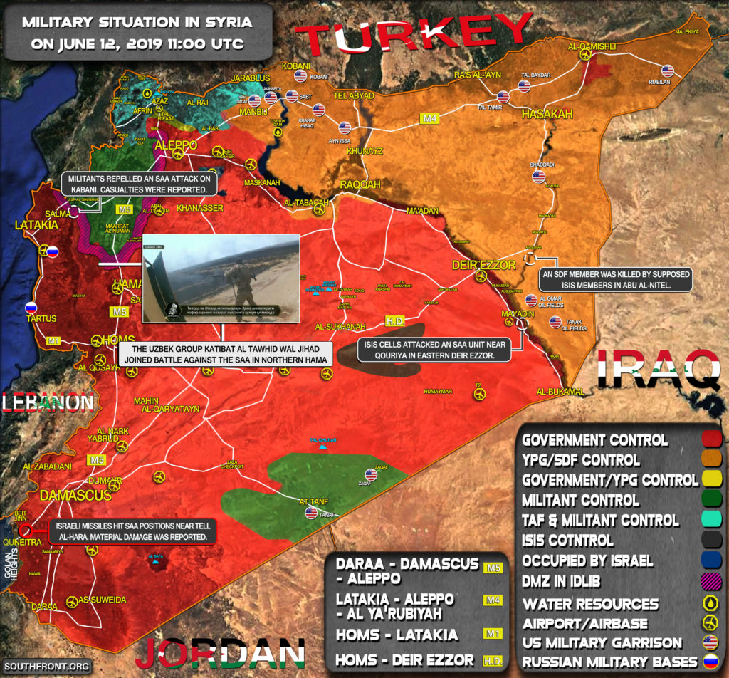 Military Situation In Syria On June 12, 2019 (Map Update)
