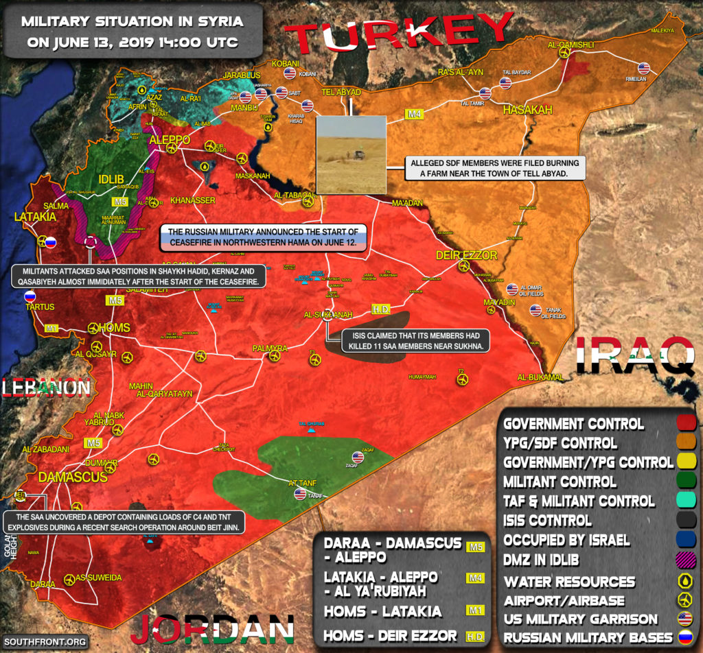 Military Situation In Syria On June 13, 2019 (Map Update)