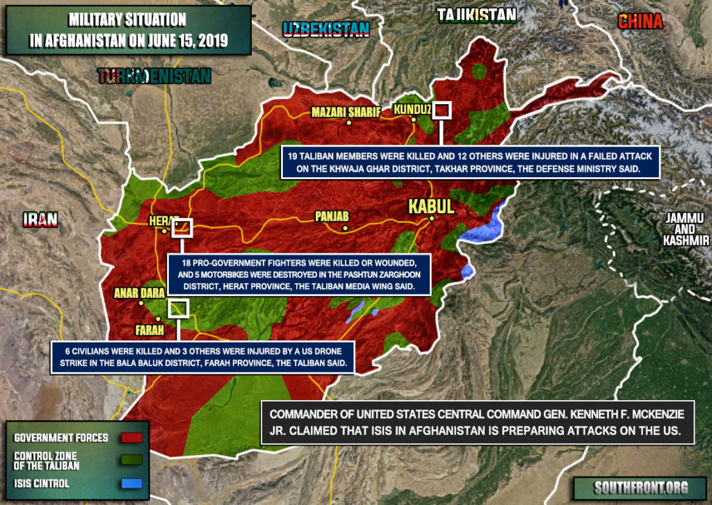 Military Situation In Afghanistan On June 15, 2019 (Map Update)