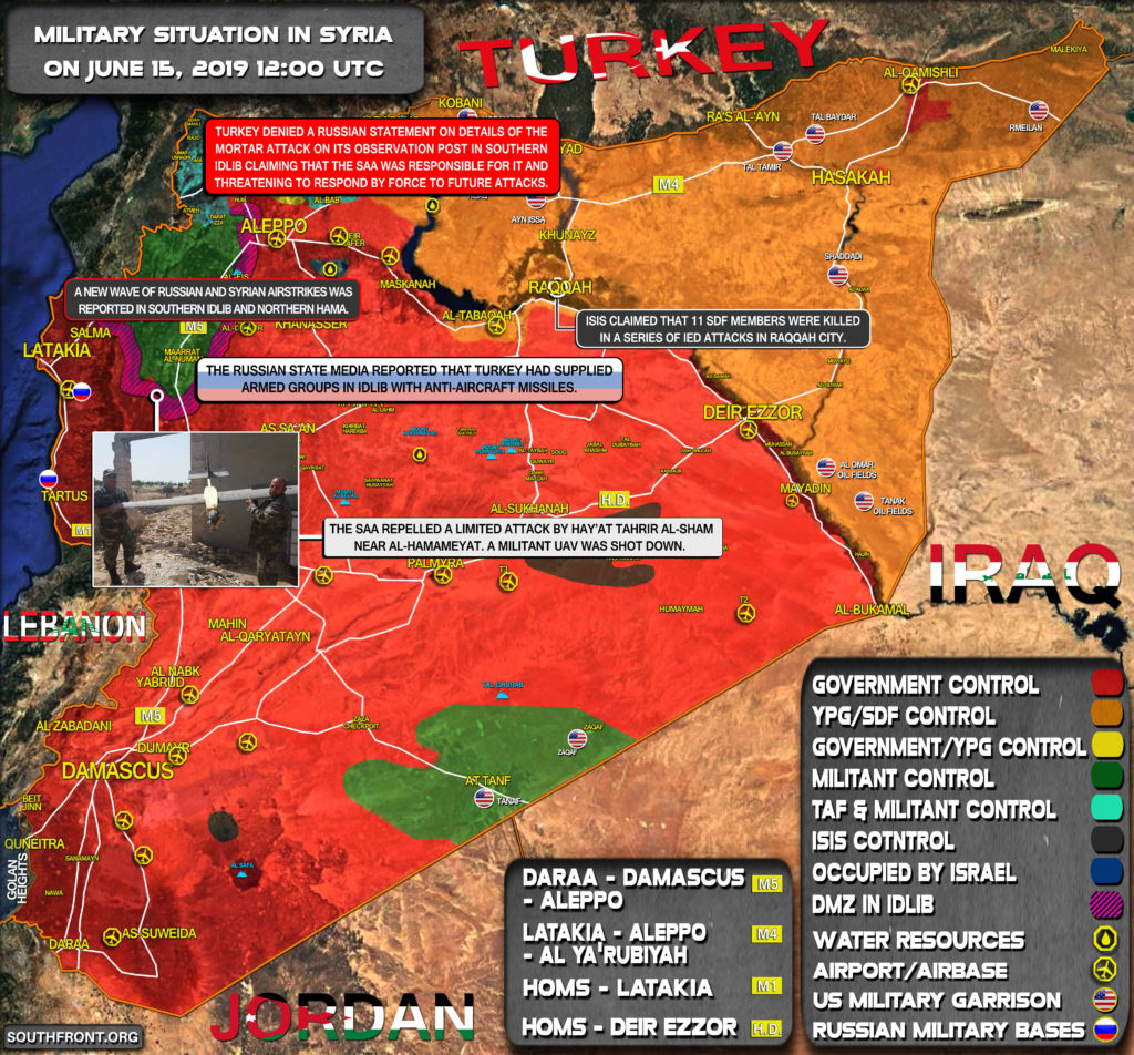 Military Situation In Syria On June 15, 2019 (Map Update)