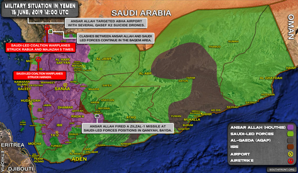 Military Situation In Yemen On June 14, 2019 (Map Update)
