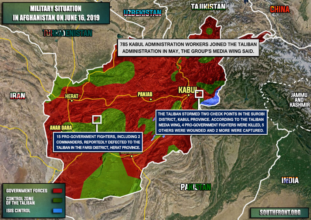 Military Situation In Afghanistan On June 16, 2019 (Map Update)