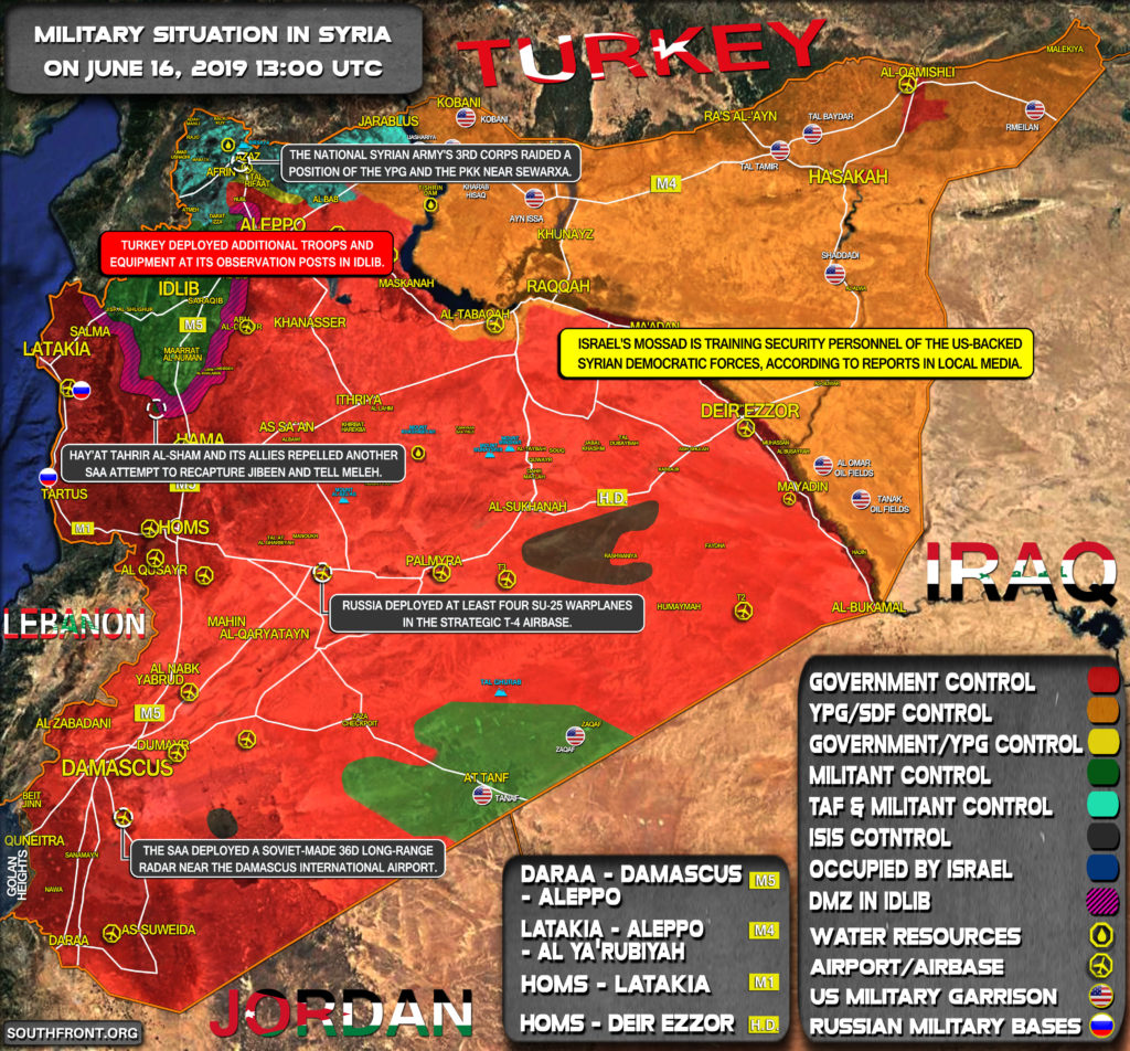 Military Situation In Syria On June 16, 2019 (Map Update)