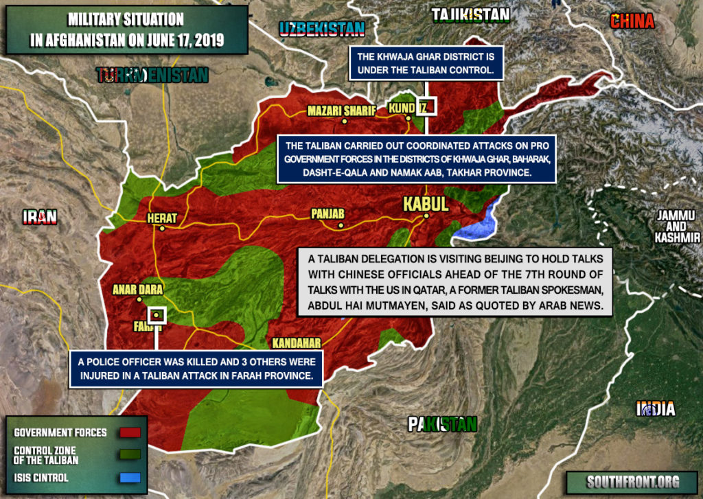 Military Situation In Afghanistan On June 17, 2019 (Map Update)