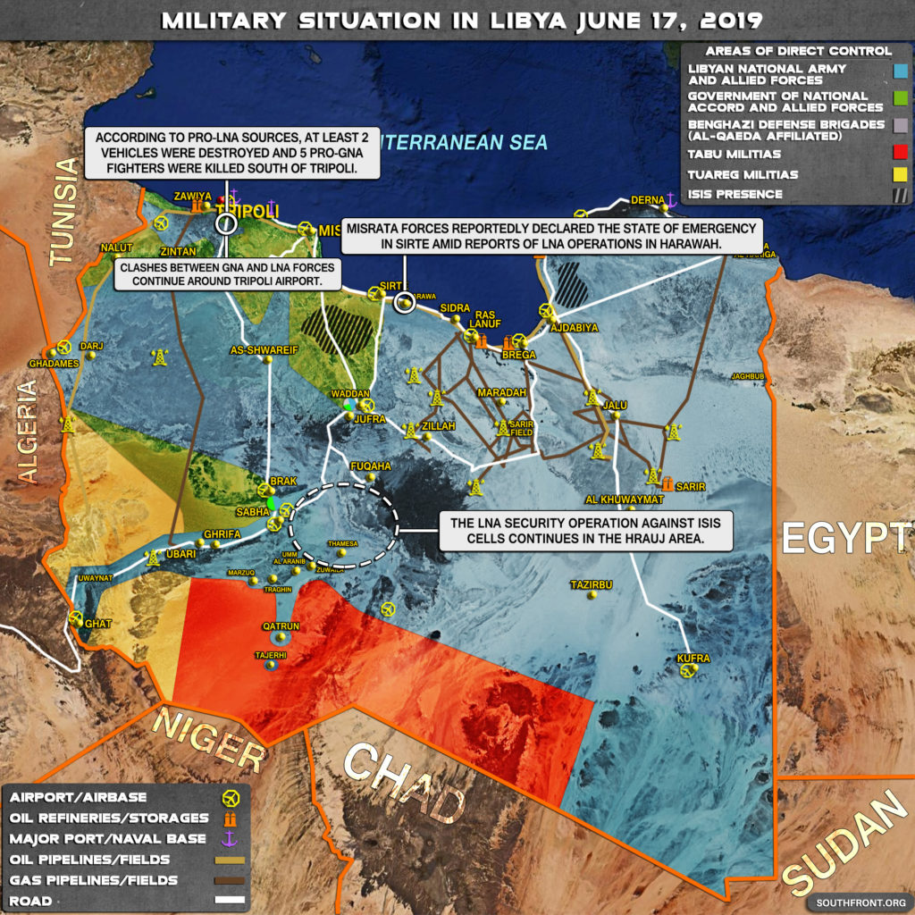 Military Situation In Libya On June 17, 2019 (Map Update)