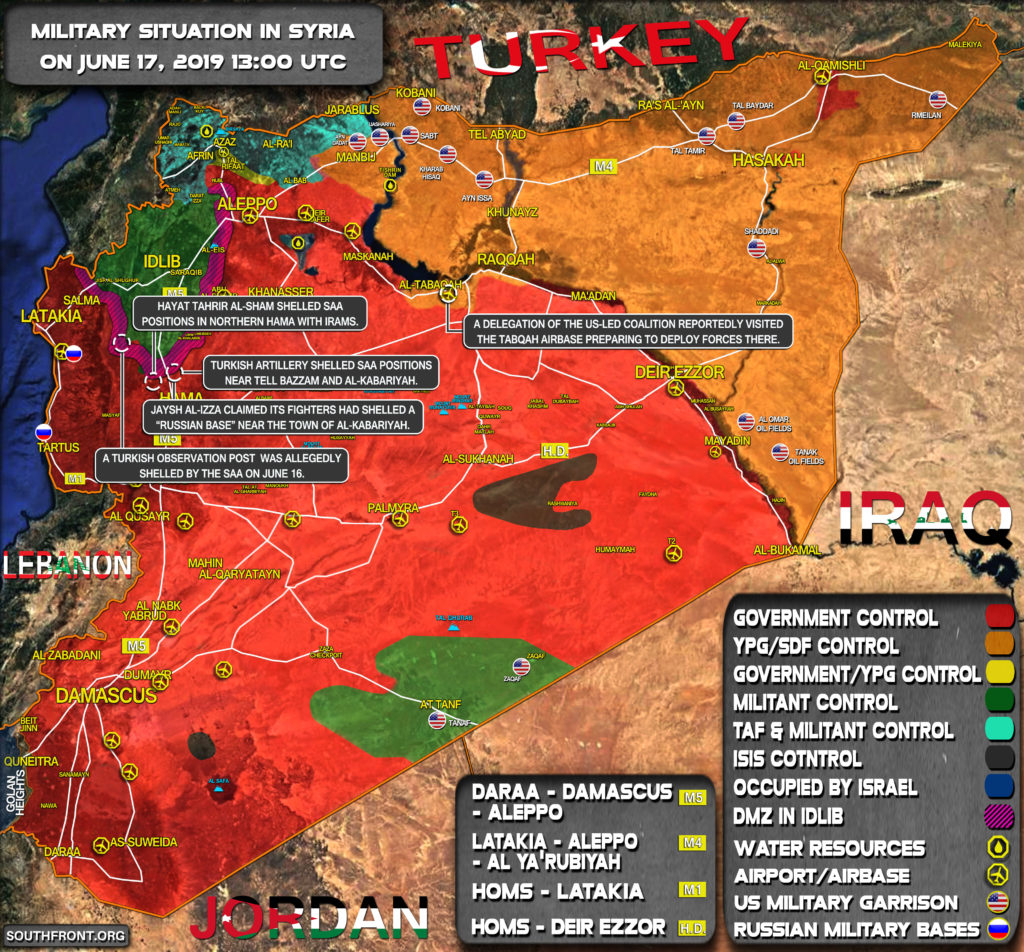 Military Situation In Syria On June 17, 2019 (Map Update)
