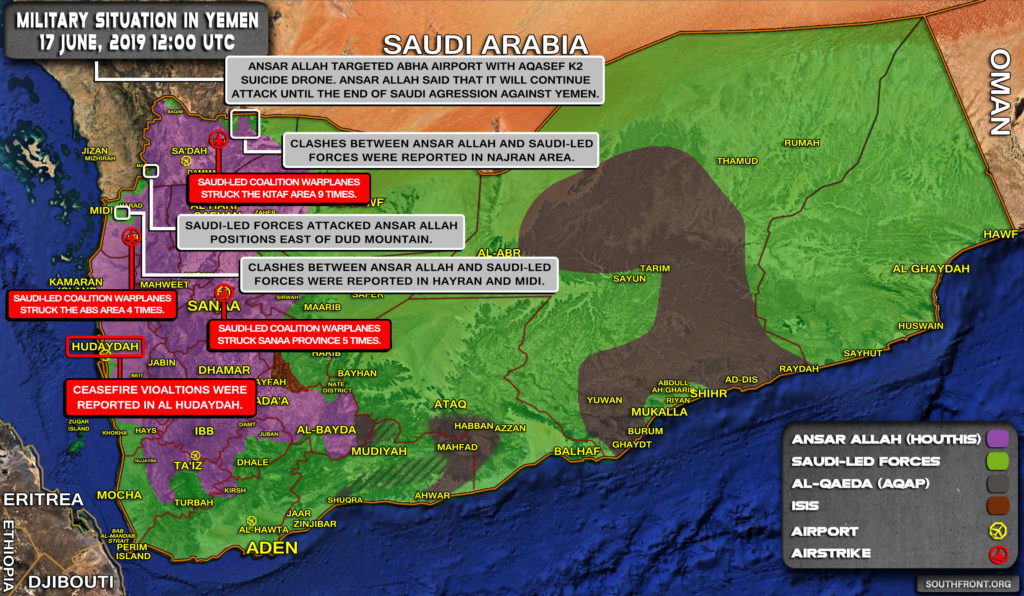 Military Situation In Yemen On June 17, 2019 (Map Update)