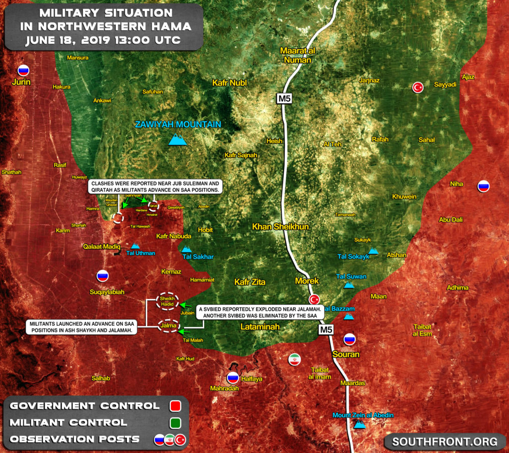Syrian Army Repelled Large Militant Attack In Northwestern Hama (Map Update)