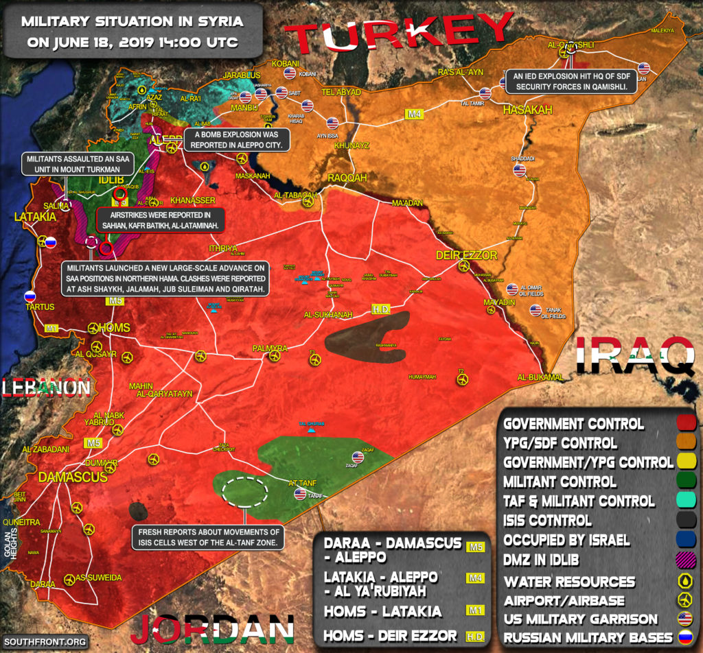 Military Situation In Syria On June 18, 2019 (Map Update)