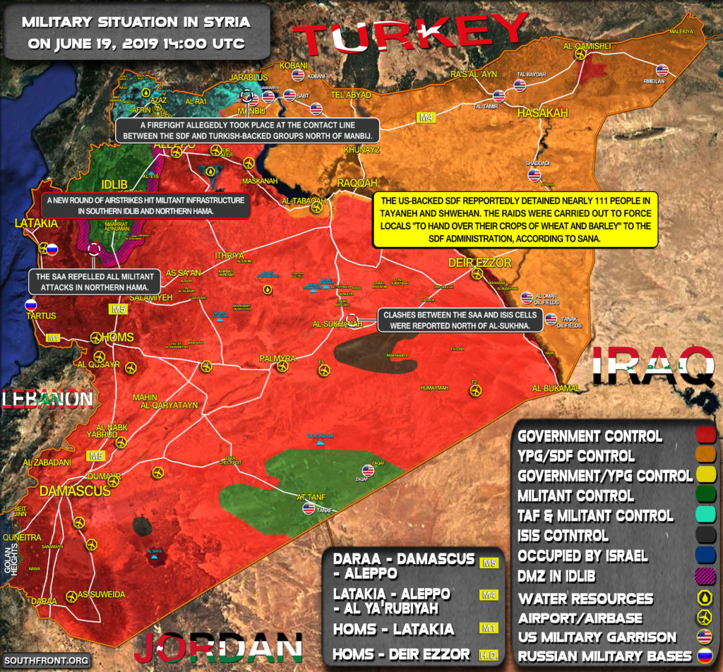 Military Situation In Syria On June 19, 2019 (Map Update)