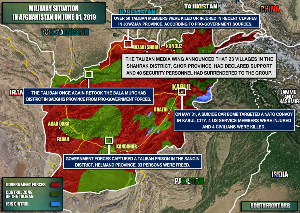 Military Situation In Afghanistan On June 1, 2019 (Map Update)