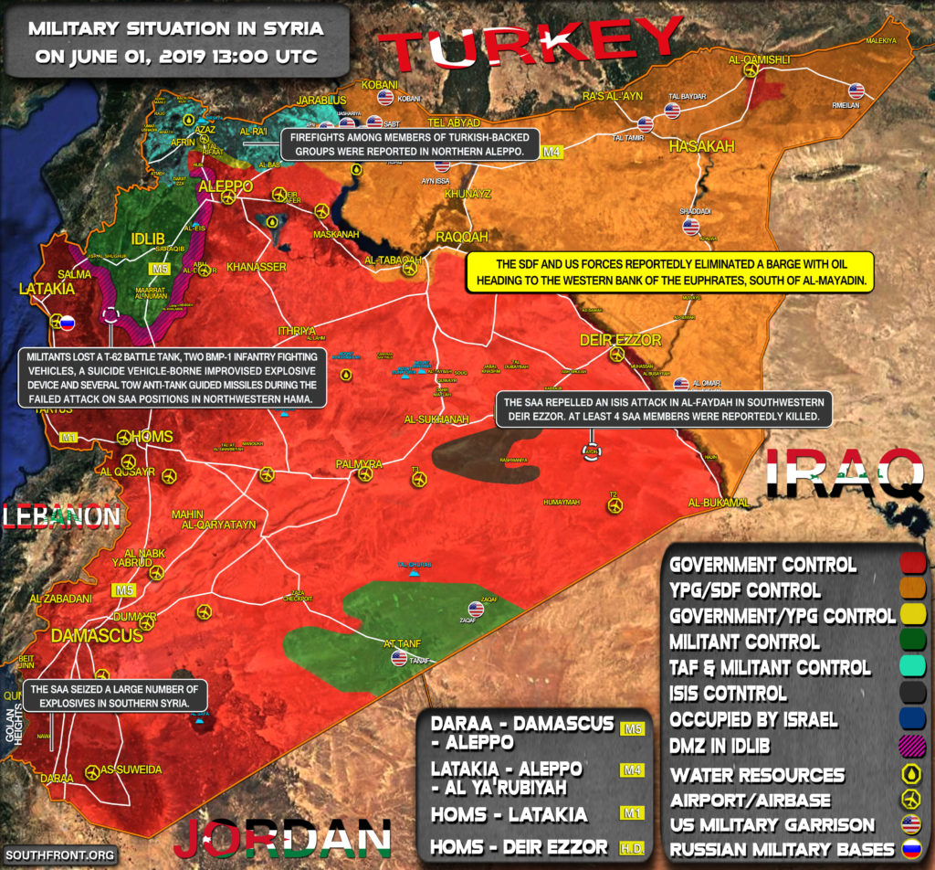 Military Situation In Syria On June 1, 2019 (Map Update)
