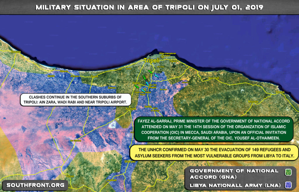 Map Update: Military Situation In Libya On June 1, 2019