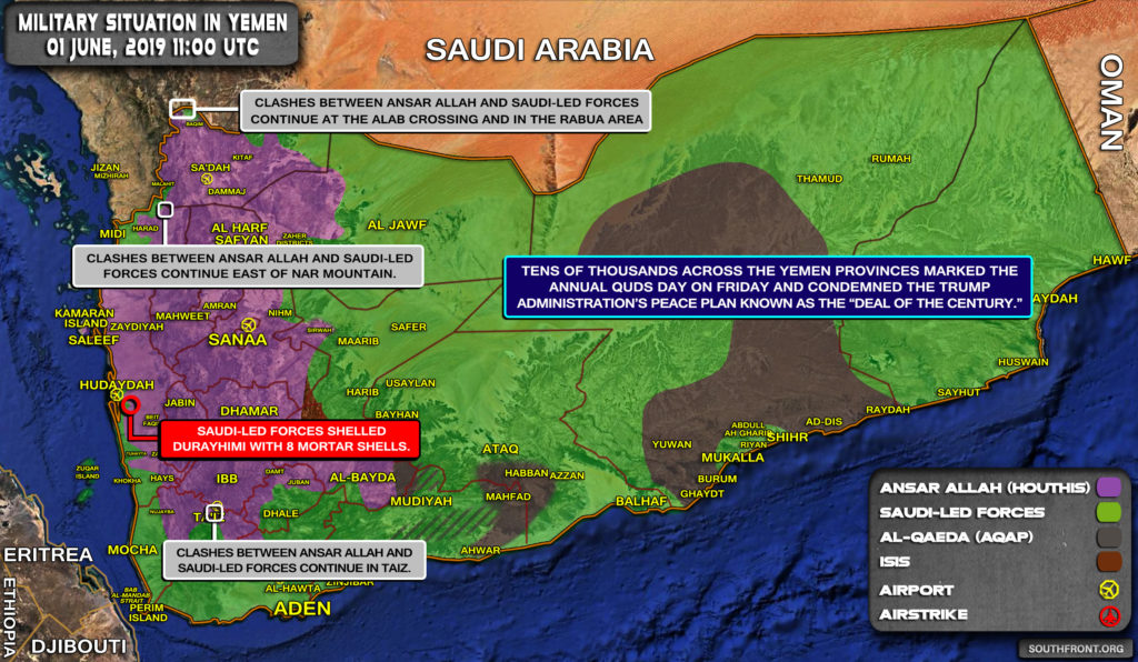 Military Situation In Yemen On June 1, 2019 (Map Update)