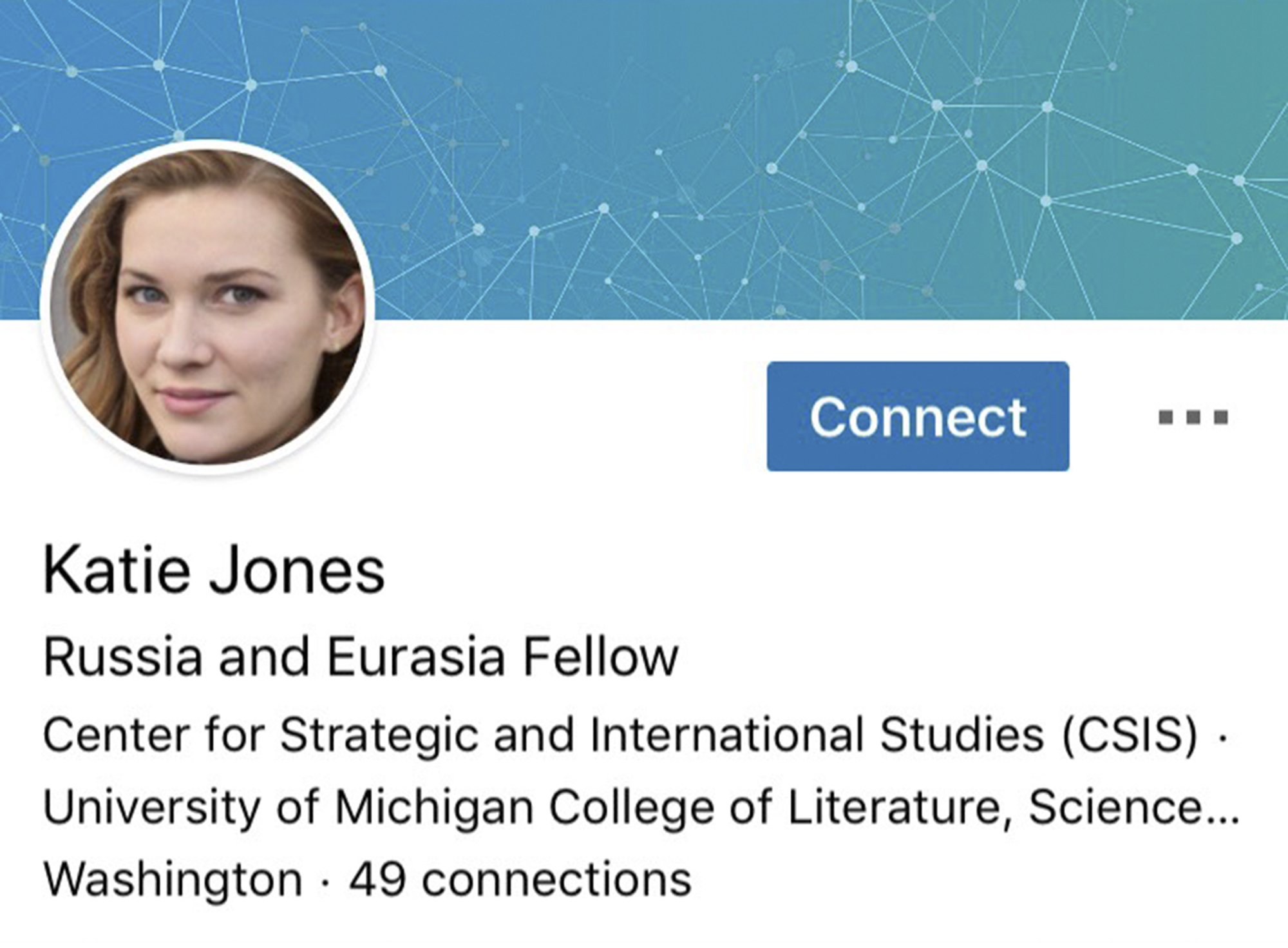 Fake Profile Of Russia And Eurasia Fellow With AI-Generated Face Discovered On LinkedIn