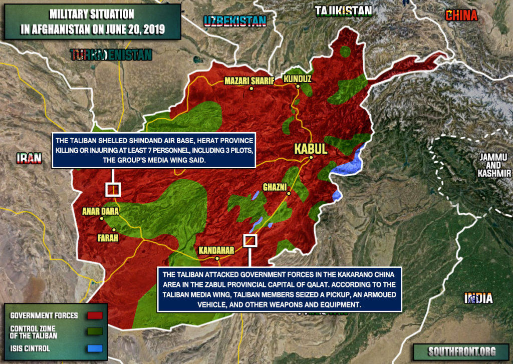 Military Situation In Afghanistan On June 20, 2019 (Map Update)