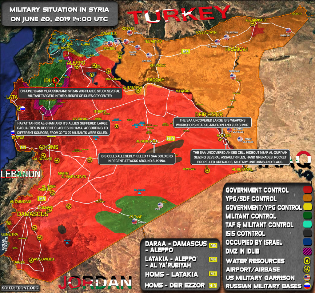 Military Situation In Syria On June 20, 2019 (Map Update)