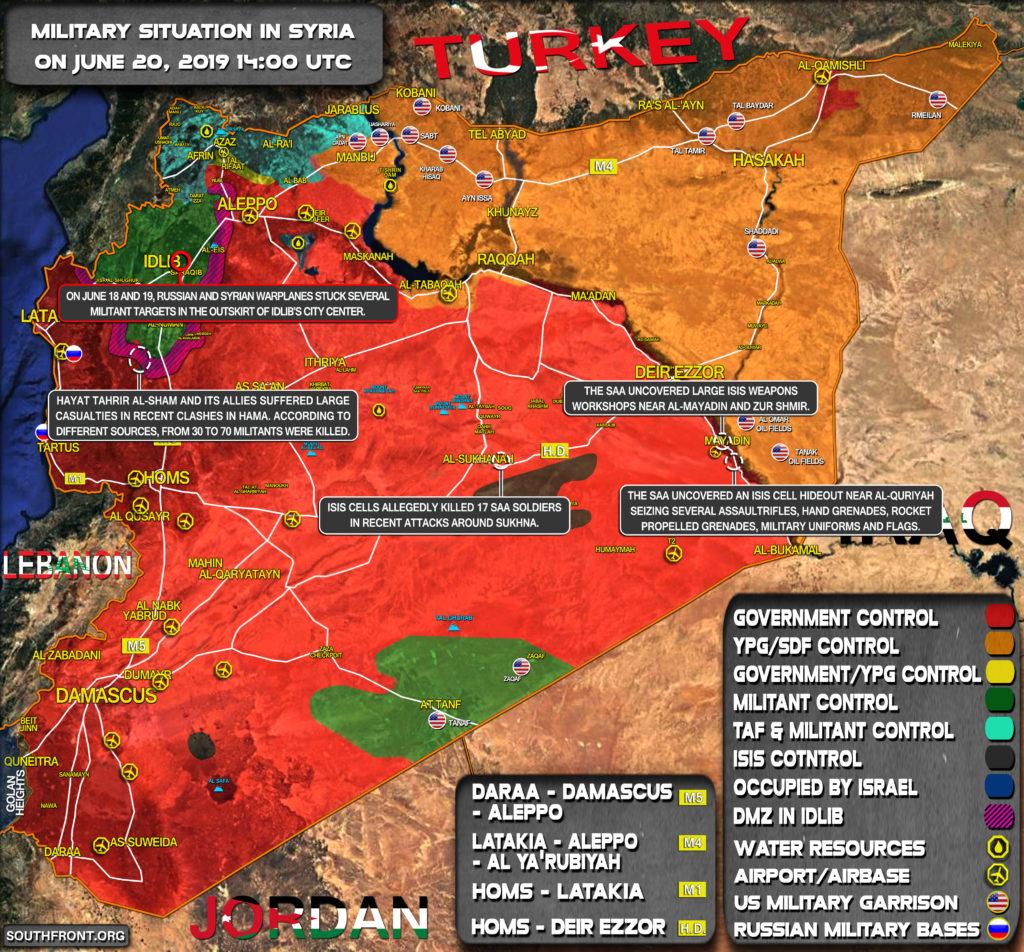 Vojenská Situácia V Sýrii Sa 20. Júna 2019 (Aktualizácia Máp)