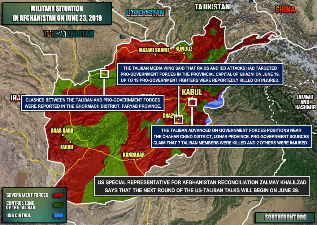 Military Situation In Afghanistan On June 23, 2019 (Map Update)