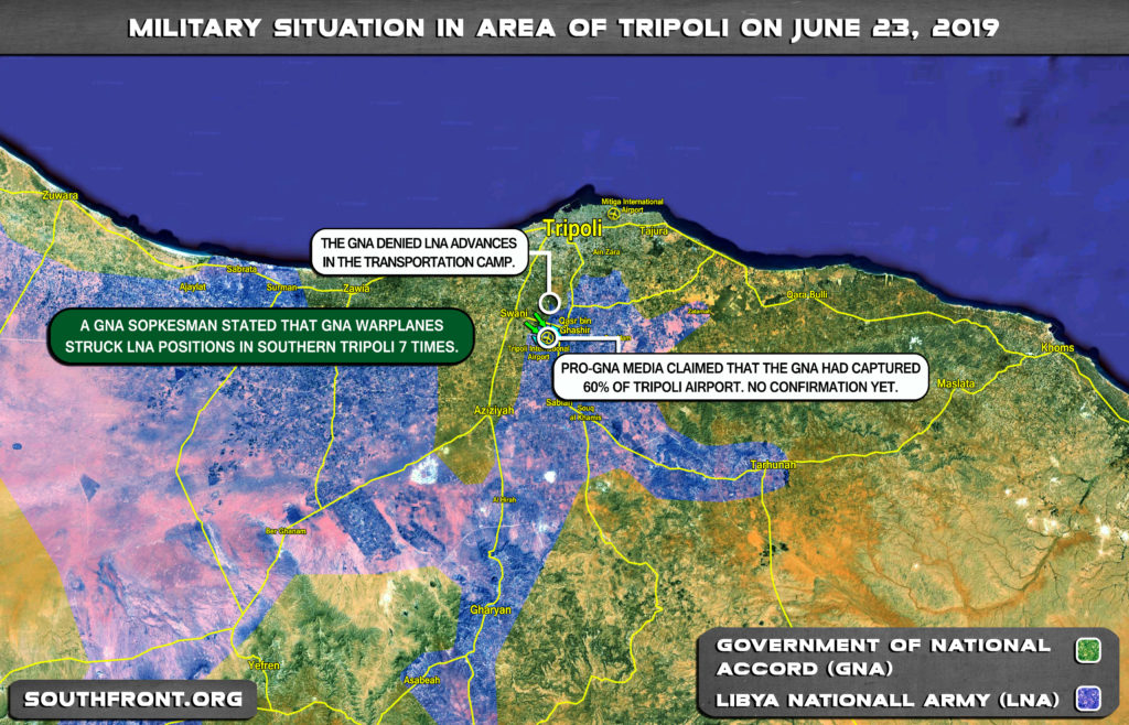 Map Update: Military Situation In Libya's Tripoli On June 23, 2019