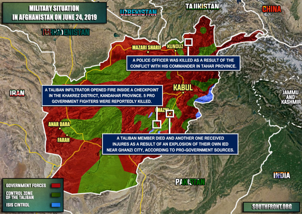 Military Situation In Afghanistan On June 24, 2019 (Map Update)