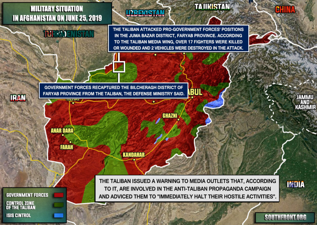 Military Situation In Afghanistan On June 25, 2019 (Map Update)