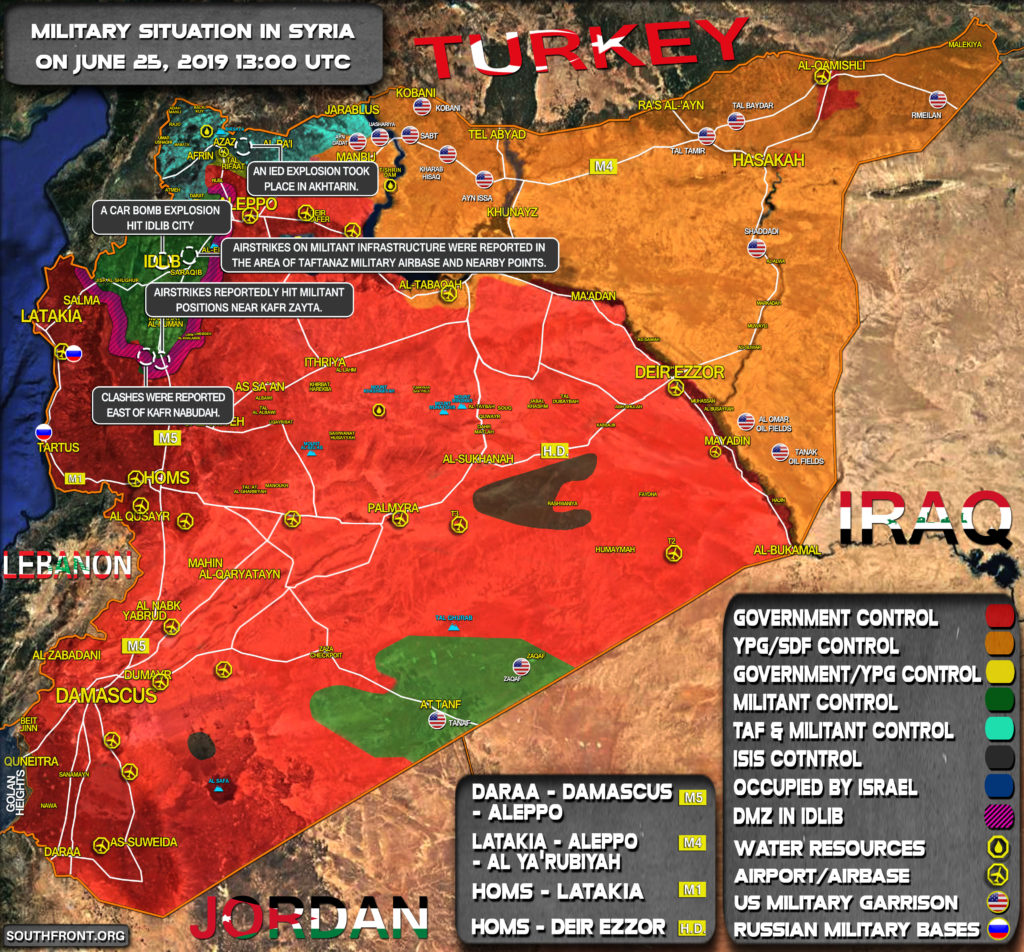 Military Situation In Syria On June 25, 2019 (Map Update)