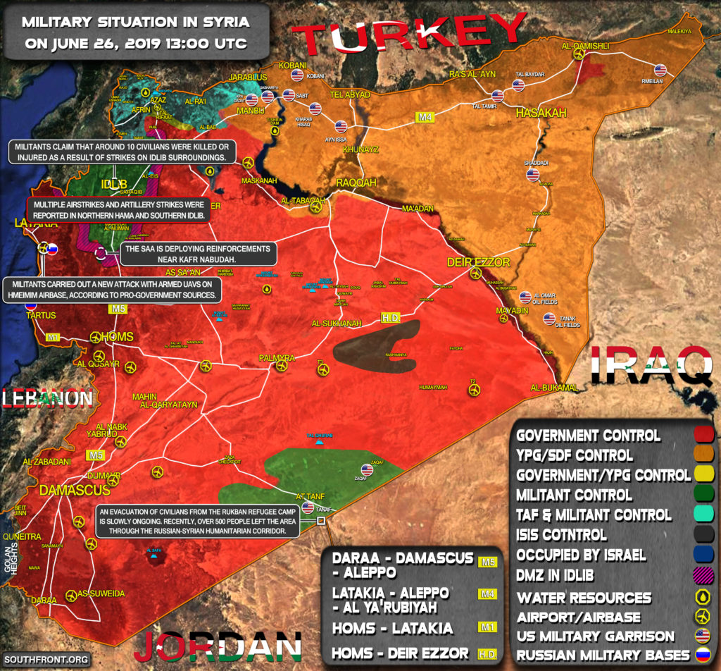 Military Situation In Syria On June 26, 2019 (Map Update)