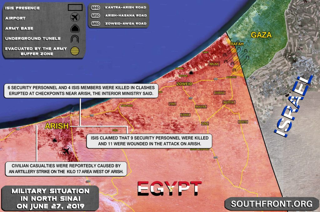 Map Update: Security Situation Is Deteriorating In Arish Area Of Egypt's North Sinai