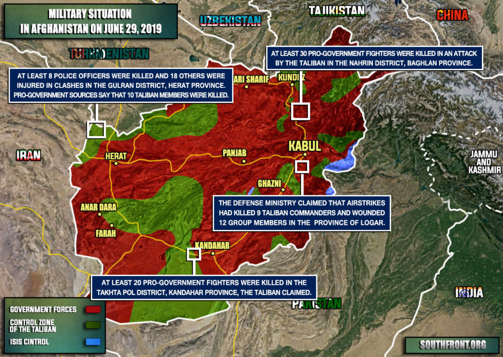 Military Situation In Afghanistan On June 29, 2019 (Map Update)