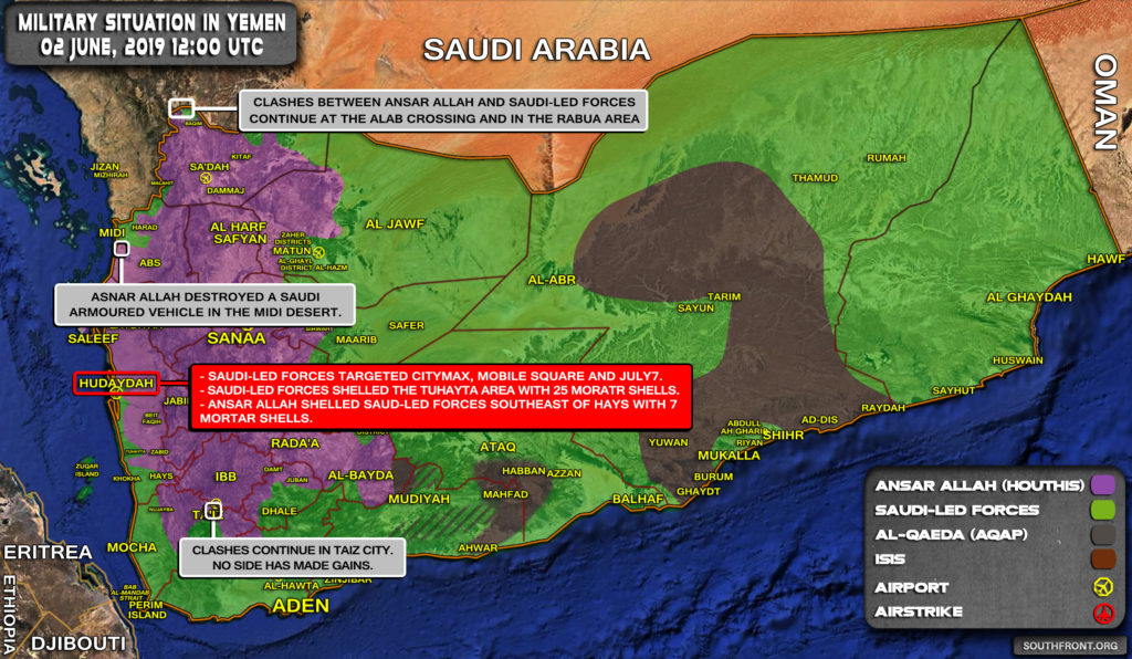 Military Situation In Yemen On June 2, 2019 (Map Update)