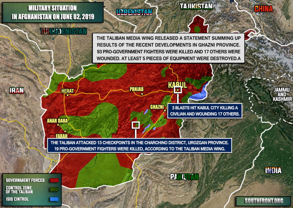 Military Situation In Afghanistan On June 2, 2019 (Map Update)