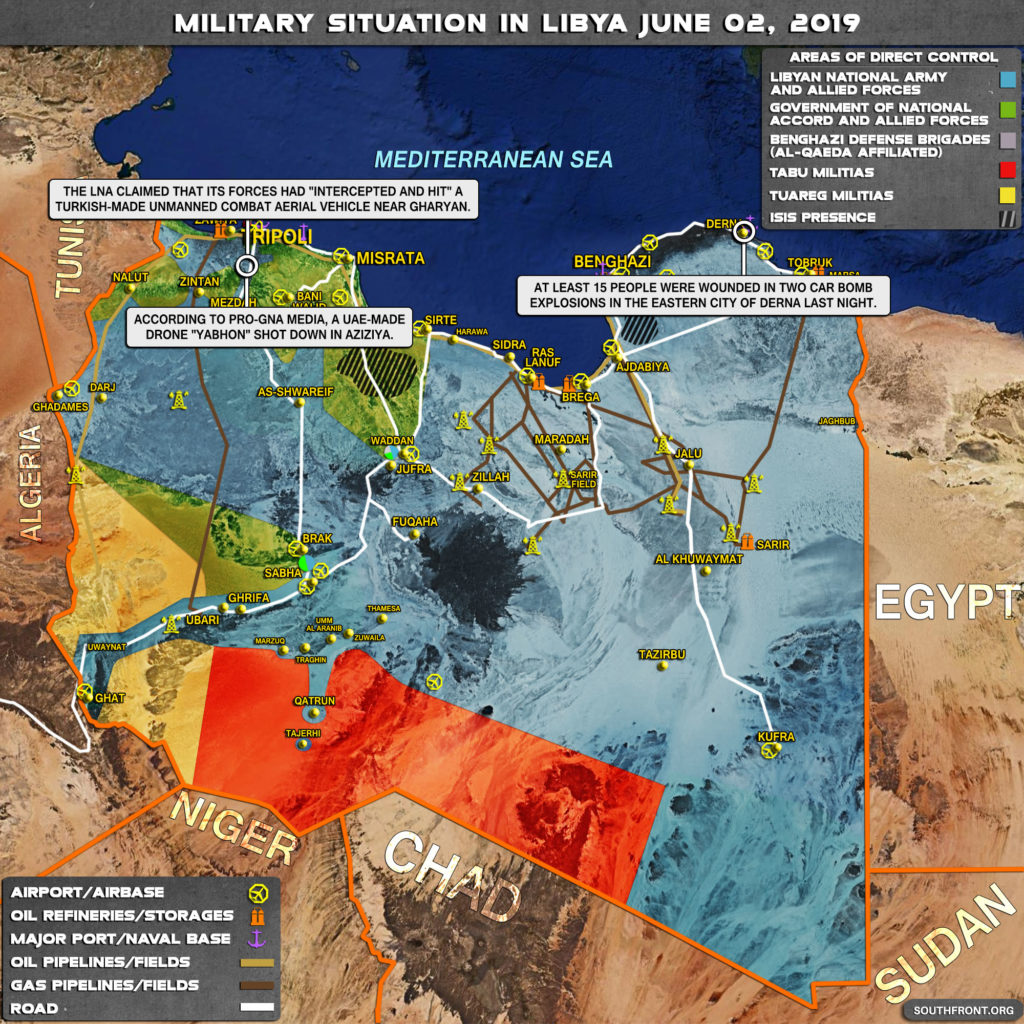 Military Situation In Libya On June 2, 2019 (Map Update)