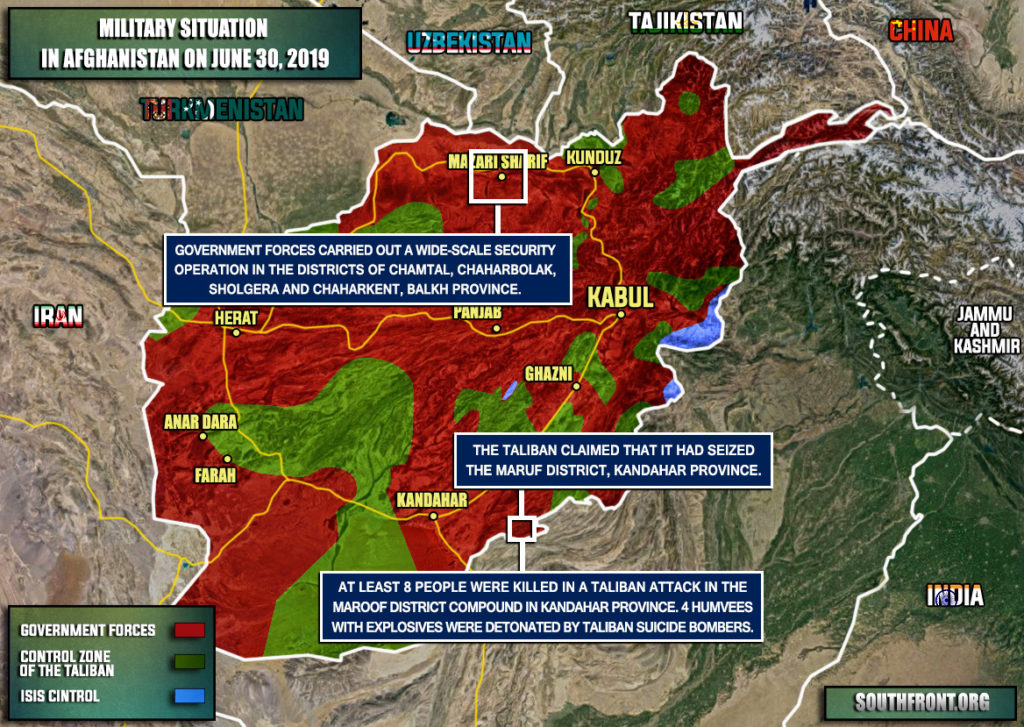 Military Situation In Afghanistan On June 30, 2019 (Map Update)