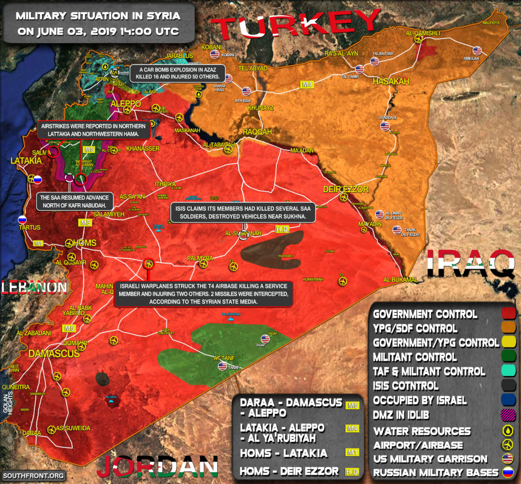 Military Situation In Syria On June 3, 2019 (Map Update)