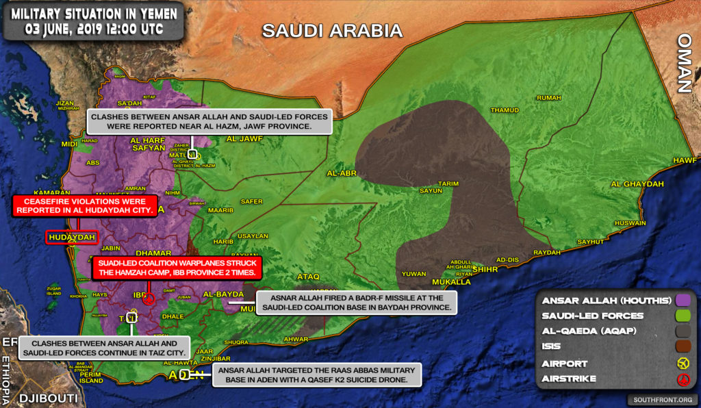 Military Situation In Yemen On June 3, 2019 (Map Update)