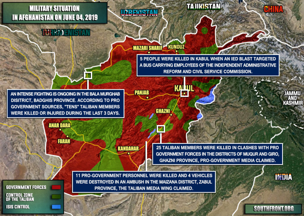 Military Situation In Afghanistan On June 4, 2019 (Map Update)