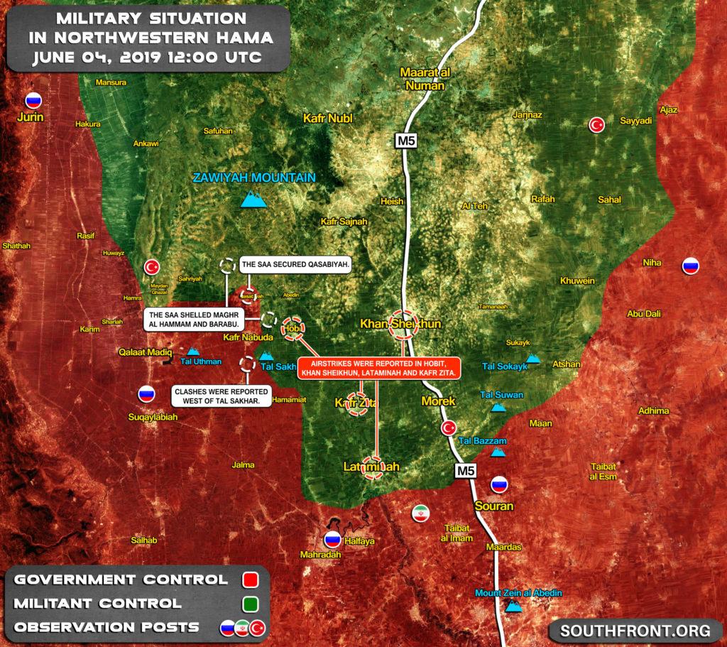 Vládne Vojská Zabezpečené Qasabiyah V Severozápadnej Hama (Aktualizácia Máp)