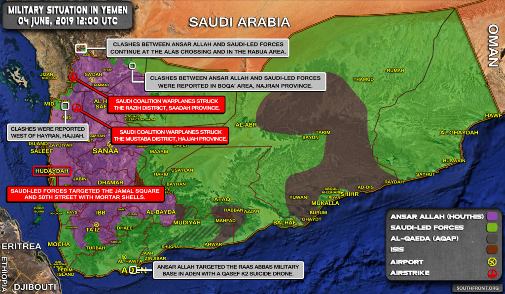 Military Situation In Yemen On June 4, 2019 (Map Update)