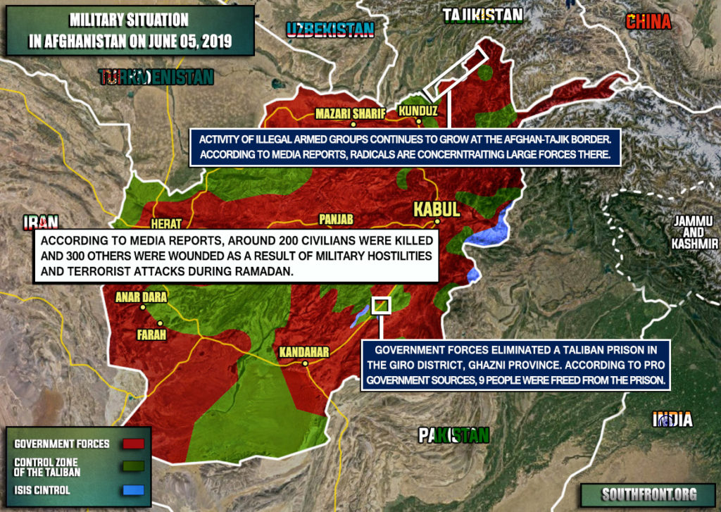 Military Situation In Afghanistan On June 5, 2019 (Map Update)