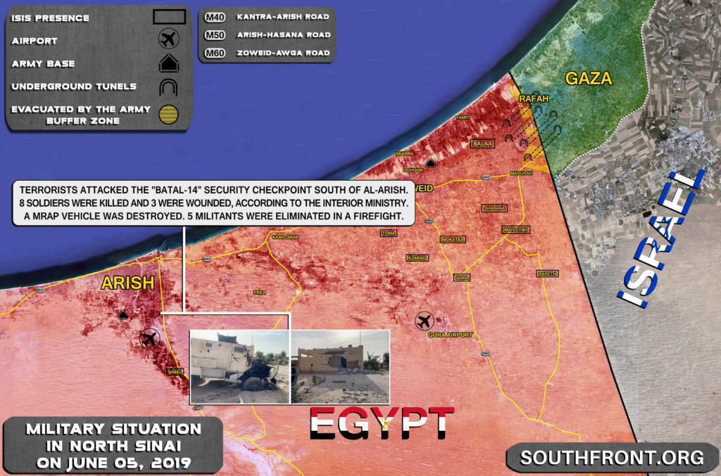 Terrorists Attacked Checkpoint Near Arish In Egypt's North Sinai. Casualties Reported (Map Update)