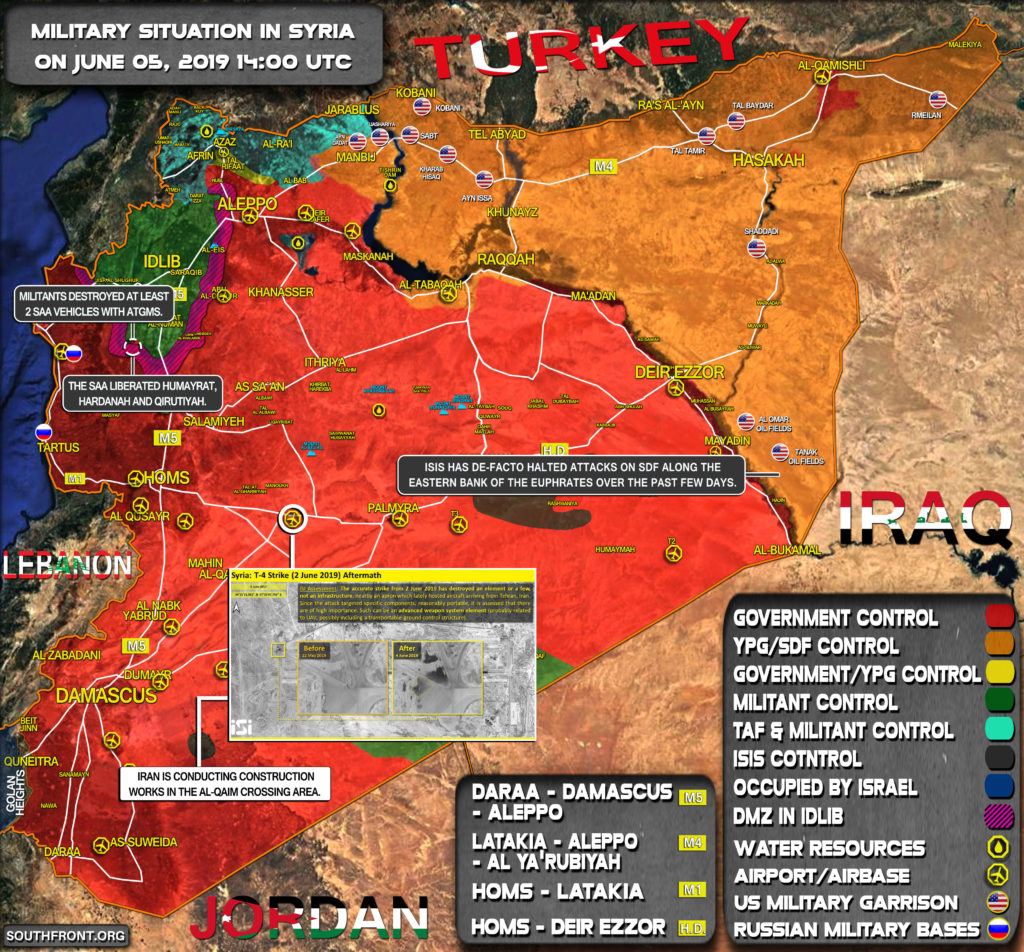 Military Situation In Syria On June 5, 2019 (Map Update)