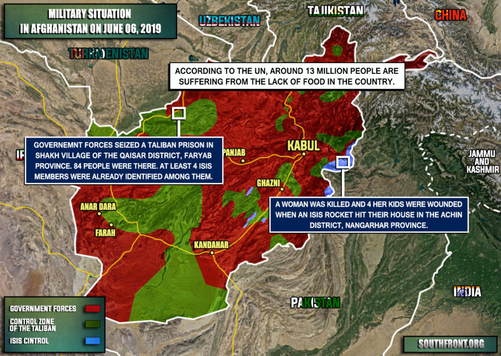 Military Situation In Afghanistan On June 6, 2019 (Map Update)