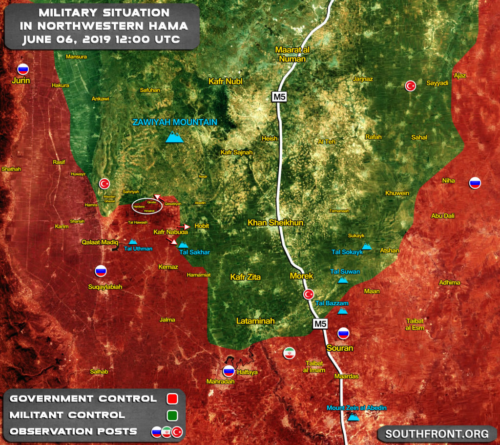 Armáda Vojakov Pracujú Na Bezpečné Posledných Zisky V Severozápadnej Hama (Aktualizácia Máp)