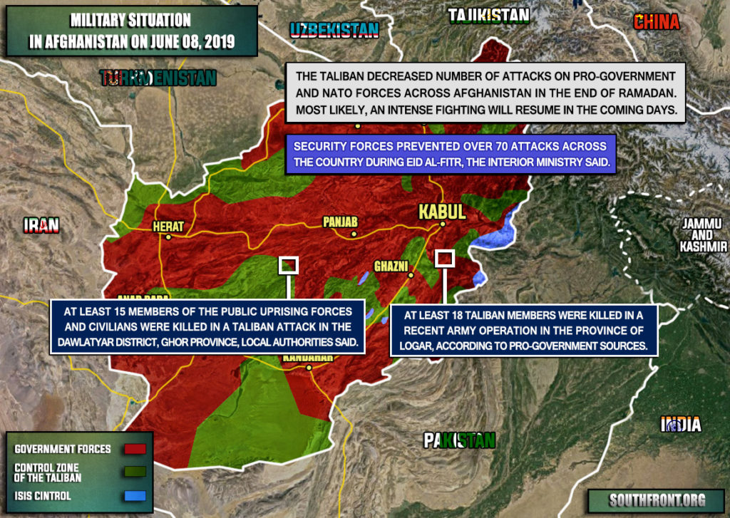 Military Situation In Afghanistan On June 8, 2019 (Map Update)