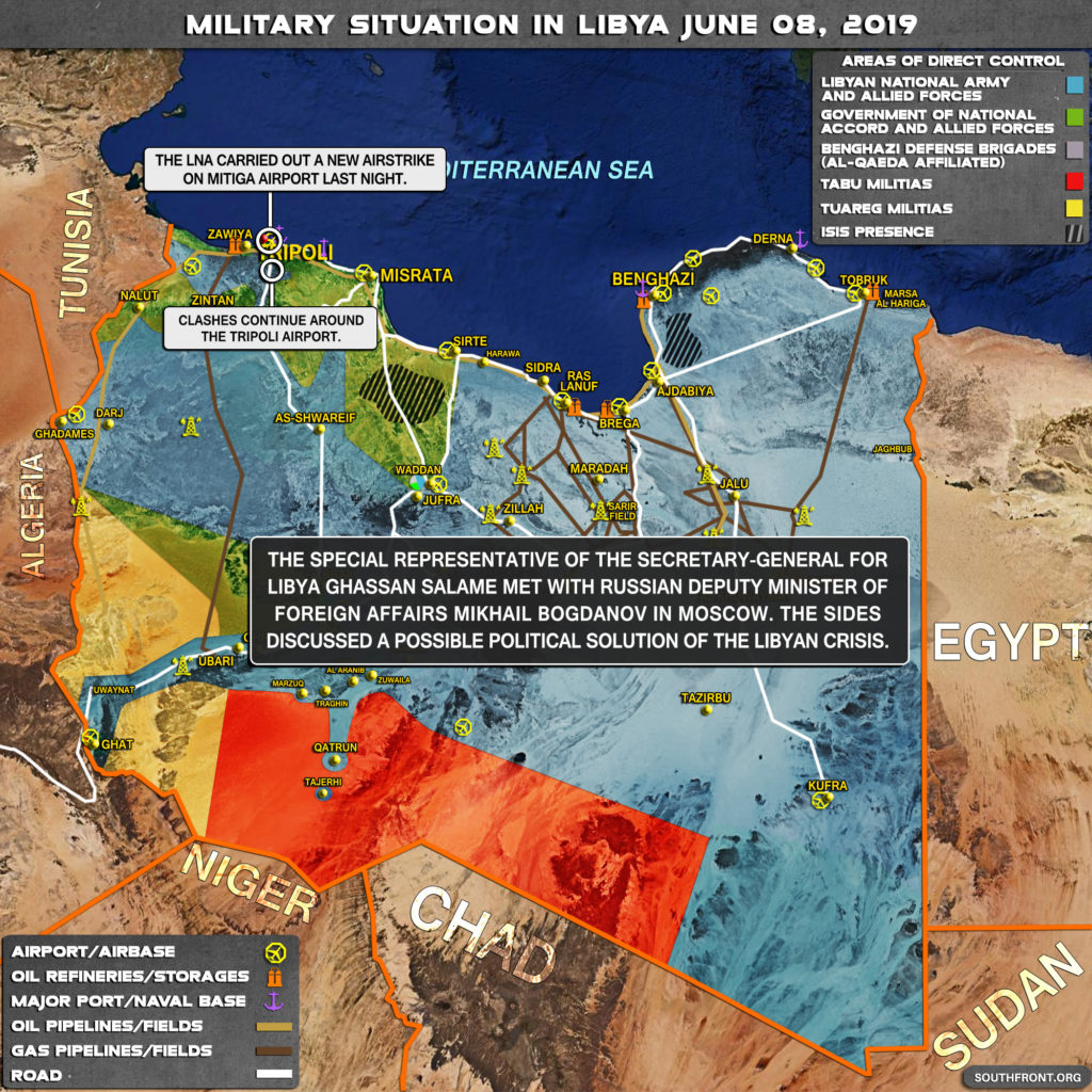 Military Situation In Libya On June 8, 2019 (Map Update)
