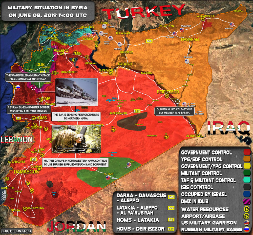 Military Situation In Syria On June 8, 2019 (Map Update)