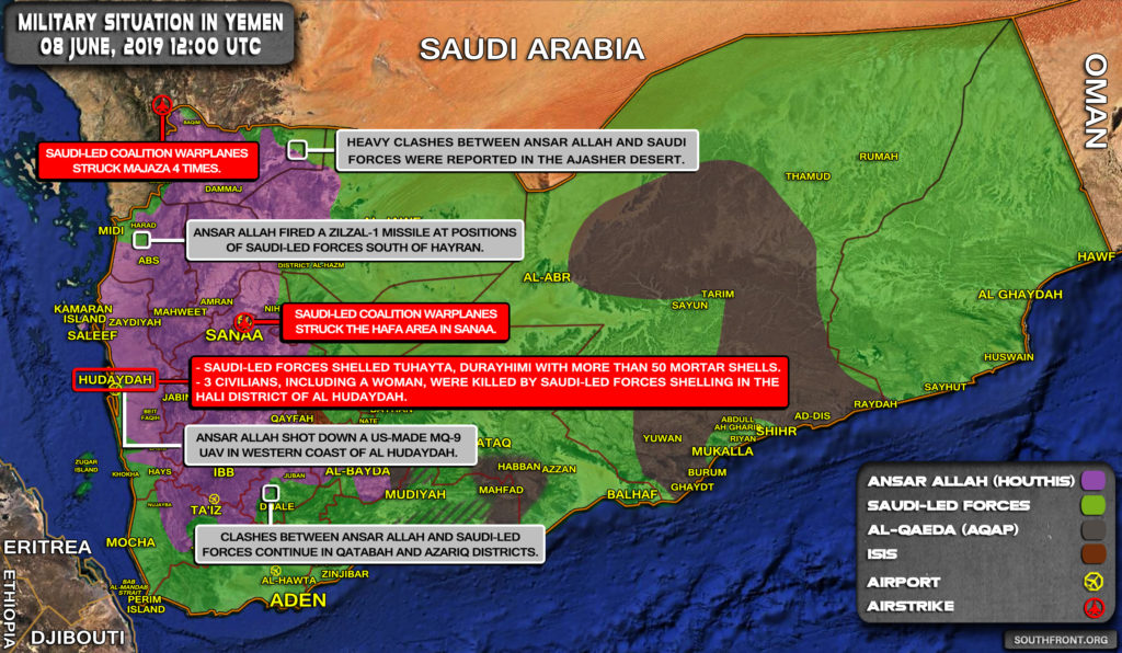 Military Situation In Yemen On June 8, 2019 (Map Update)