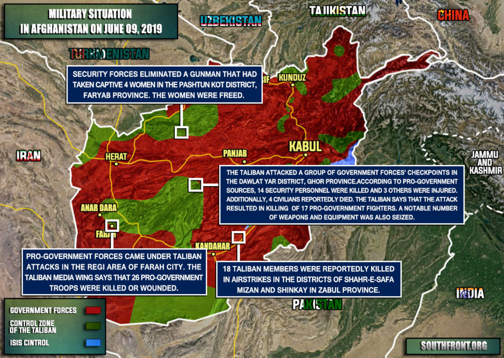 Military Situation In Afghanistan On June 9, 2019 (Map Update)